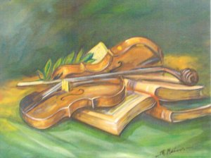 Panagiotis Messinis: Still life with Violin