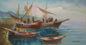 Nikos Papadopoulos: Fishingboats