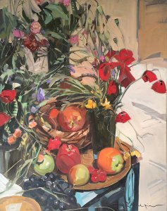Thanasis Zachariou: Still Life with Fruits