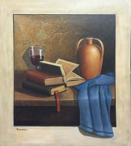 Giannis Zafeiris: Still Life with Books and Urn