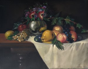 Iason Oikonomopoulos: Still Life with Fruits