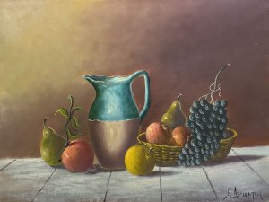 Giorgos Depastas: Still Life with Jug and Grapes
