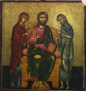 Georgios Tornesakis: Christ Pantocrator, Mary, John the Baptist