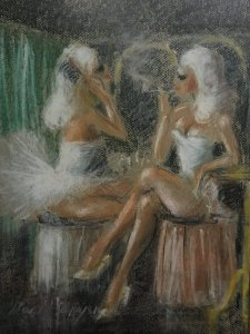 Marina Dialeti: Ballerinas at the Dressing Room