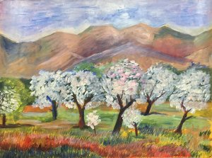 At the Almond Trees