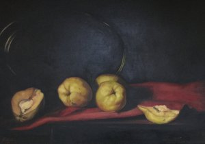 Nikos Pissas: Still life with  Quinces