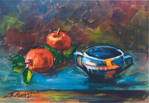 Panagiotis Messinis: Still life with Fruits