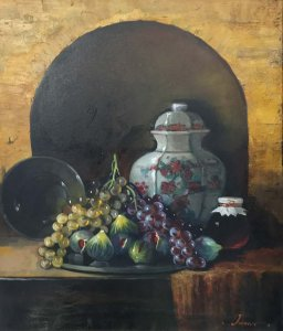 Iason Oikonomopoulos: Still life with Grapes