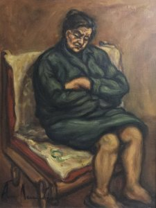Apostolos Leukadios: Grandmother on the Chair