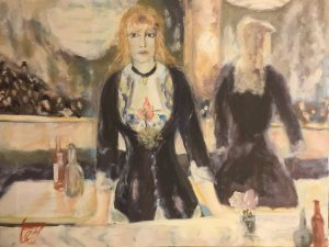 Giannis Zografakis: Woman at the Bar