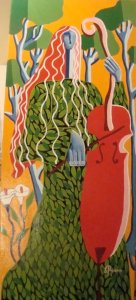 Giouli Vrana: Girl with Violoncello